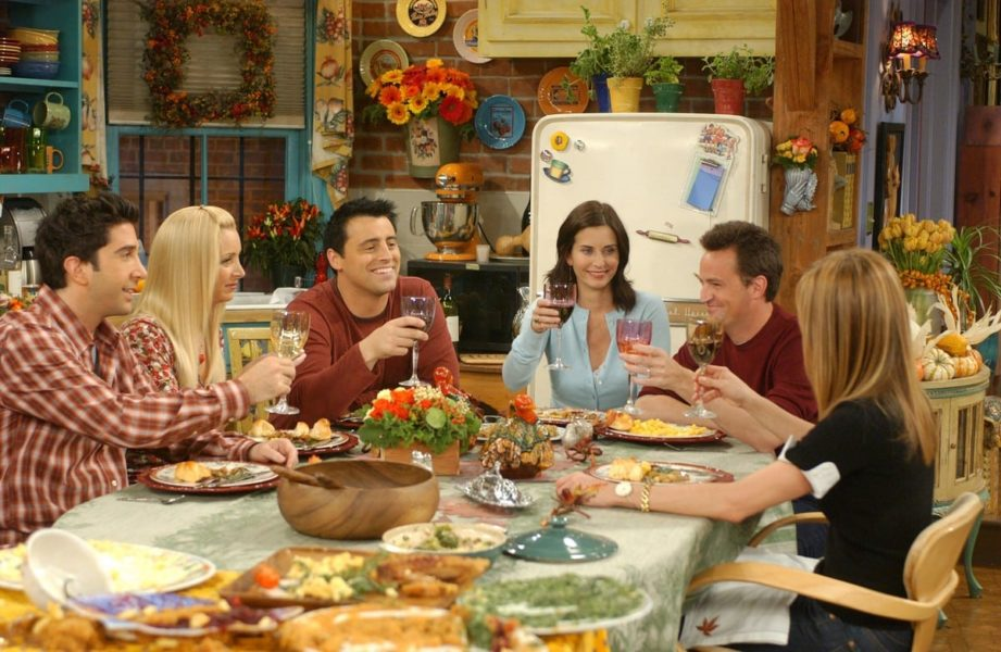 The cast of Friends featured sitting at Thanksgiving dinner for our post on financial tips we're grateful for.