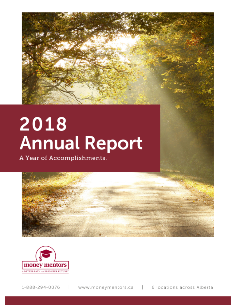 Money Mentors 2018 Annual Report